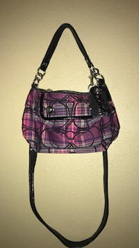 Purple and black coach leather crossbody bag San Antonio, 78238