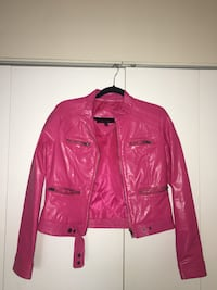 pink leather zip up jacket Temple Hills, 20748