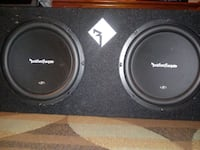 """Sony Xplod Car stereo w/ (2) 10"""" Rockford Fosgate subwoofers and amp"""
