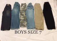 Lot of 6 Boys size 7 Pants, Jeans, Dress pants Hoover, 35244