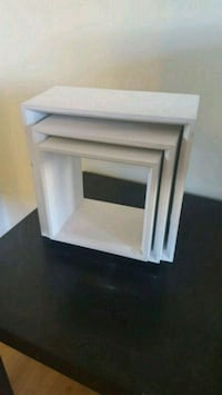 white wooden 3-nesting tables Calgary, T3K 5V8