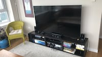 "65"" Samsung LCD 1080p HD TV plus black wooden TV stand Seattle, 98109"