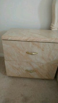 brown wooden 2-drawer nightstand Scarborough, M1H 1W3