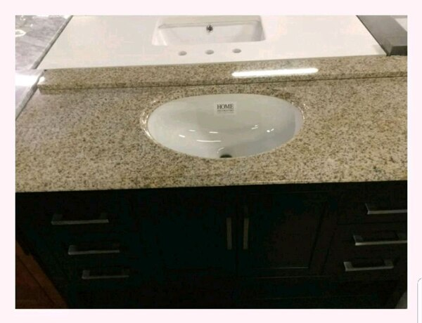 Begagnad Home Decorators 48in Granite Vanity Top Only Till Salu I Farmers Branch Letgo