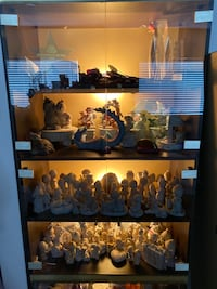 Glass storage/display case