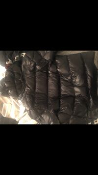 Moncler Black leather zip-up jacket Toronto