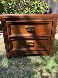 brown wooden 2-drawer nightstand Atwater, 95301
