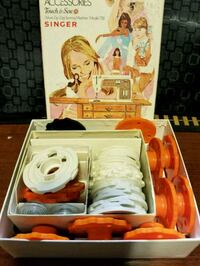 Vintage Singer Touch & Sew Accessories, model 758 Abbotsford, V2S