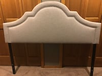Queen/Full size beige brass tufted headboard. Frame not included. Comes with fixtures. Paid $200.00, asking $95.00. Only a year old, was in guest room. Cash only. You pickup. No deliveries . Graham, 98338