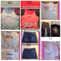 Girls size 5 clothes  Edmonton, T5S 2R9