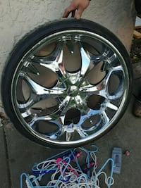 "Elite 24"" rims with spacers Omaha, 68105"