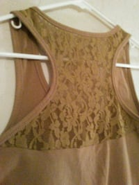 women's brown floral lace tank top Coeur d'Alene, 83815
