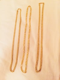 18k gold plated chain each for $30