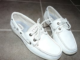 Sperry White Topsider Shoes, Ladies Size 8M - $80