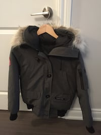 Canada Goose grey bomber jacket women size small