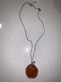 Gorgeous and unique boho style amber rock necklace with charms San Diego, 92123