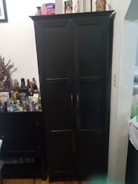 black wooden 2-door cabinet BROOKLYN