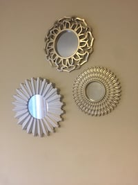 three round white-framed mirrors Waterloo, N2T 2C8