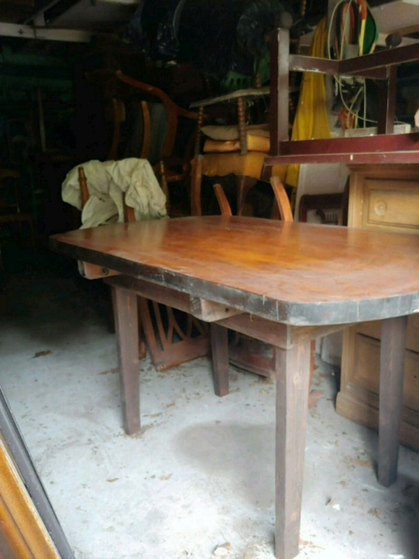 Table Made Out Of Old Hospital Door