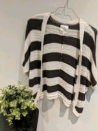 Black and White Stripes Cardigan Size S Richmond, V6Y 2B3
