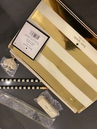 Brand new Kate Spade gold strip pencil case Mississauga