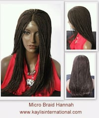 HAND BRAIDED WIGS custom made in many styles. Catonsville, 21228