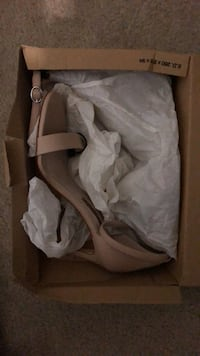 Pair of white heeled sandals with box Aldie, 20105