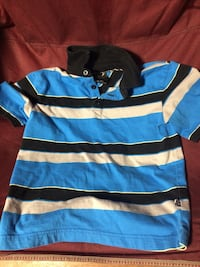 black blue and white stripe polo shirt Winchester, 37398