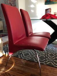 Modern red chairs (Table not included) with red seat covers Woodbridge, 22192