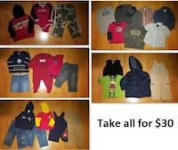 18 Mths Baby Boys Clothing Lot 1 (Take all 25 Pieces for $30) Mississauga