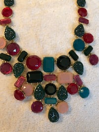 Talbots Colorful bib style necklace