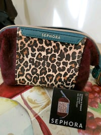 Leopard cosmetic bag from Sephora