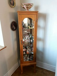 brown wooden framed glass display cabinet Laval, H7M 4T6