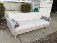 NEW Remix Beige Sofa with accent pillows Aspen Hill