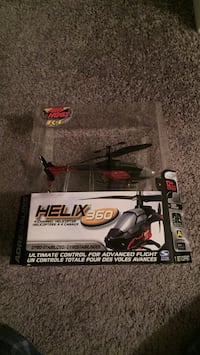 Black and red helix 360 rc helicopter Toronto, M8Y 3H8