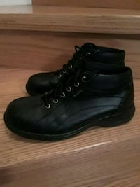 Pair of black leather high-top safety sneakers Brampton, L7A 1R9