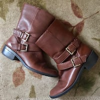 Used Anne Klein brown women's leather boots size 6.5 OBO Harwood Heights