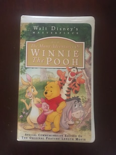 Walt Disney's The Many Adventures of Winnie the Pooh VHS movie