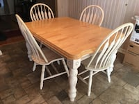 Rustic Farmhouse Dining Table(w/ Leaf) & Chairs Manchester, 03109