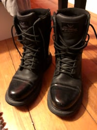 Pair of black jump boots