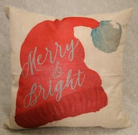 "Brand New ""merry & bright"" hat pillow Rocky Point"