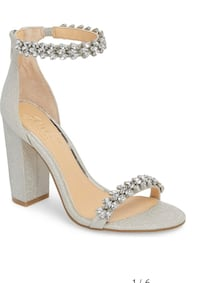 Jewel by Badgley Mischka Mayra Embellished Ankle Strap Sandal