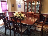 rectangular brown wooden table with six chairs dining set Vienna, 22182