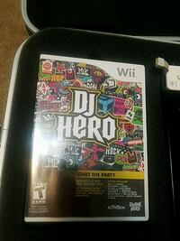 Wii dj hero game, turntable, and controller