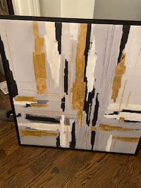 Black and golds abstract picture Bowmanville, L1C 4P2