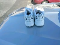 pair of white Nike Air Max shoes St. Louis, 63136