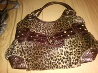 black and white leopard print tote bag West Hills, 91307