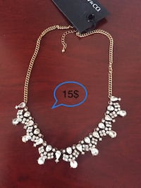 New silver/gold necklace  Laval, H7X 3R8