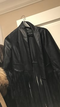 black leather fringe zip-up jacket 多伦多, M2N 2V2