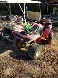 pink and black ATV